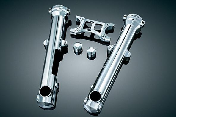 HCW - Kuryakyn Fork Skins for 2004 - 2013 Sportsters with