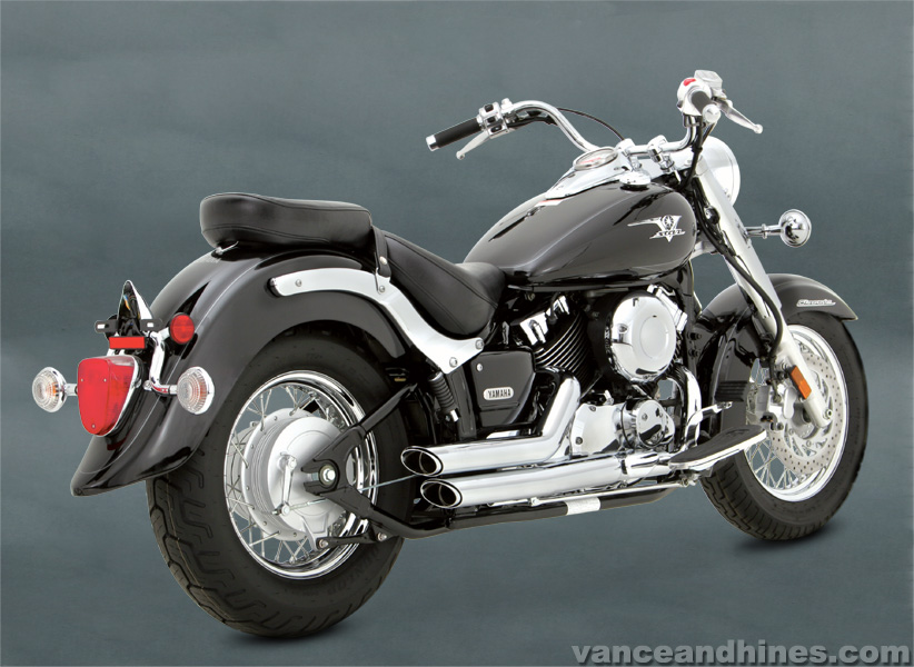 Vance and Hines Shortshots Staggered V Star 650 2004 - 2005