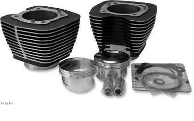 Revolution Performance Bolt On 107 Cubic Inch Kit for 2007 - 2013 Twin Cam Models - Black Cylinders