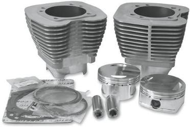 Revolution Performance Bolt On 107 Cubic Inch Kit for 2007 - 2013 Twin Cam Models - Silver Cylinders
