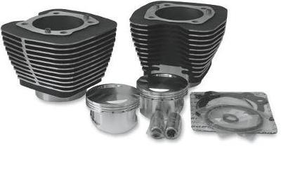Revolution Bolt On 98 Cubic Inch Big Bore Kit for Twin Cam Models 1999 - 2006 - Black Cylinders with High Lighted Fins