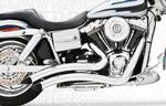 Freedom Performance Exhaust Sharp Curve Radius for 2006 - 2017 Dyna Models - Chrome