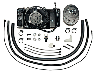 Jagg Fan-assisted LowMount Oil Cooler System for HD Touring Models 2009 - 2013