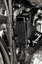 Jagg SlimLine Oil Cooler System For HD Touring , Softails, Dyna and Sportsters