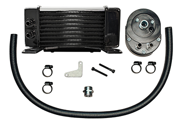 Jagg LowMount 10-row Chrome Oil Cooler System for HD Touring Models 1984 - 2008