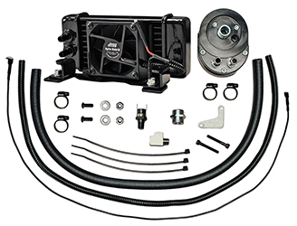 Jagg Fan-assisted LowMount Oil Cooler System for HD Touring Models 1984 - 2008
