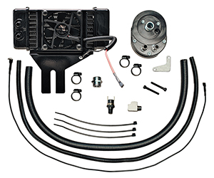 Jagg Fan-assisted LowMount Oil Cooler System for Dyna Models 1991 - present