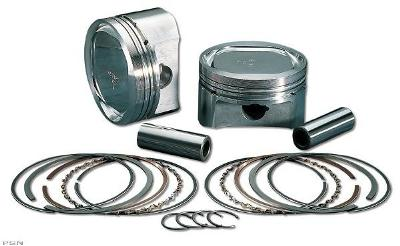 Wiseco Piston Kit for 1985 - 1999 Evo Big Twin +.005 10:1 With Hastings Rings