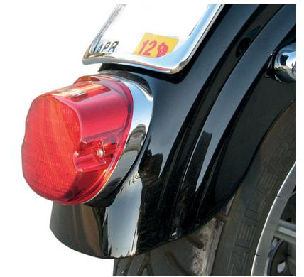 Drag Specialties Tombstone Tail Light Top Tag Light for Harley Davidson Custom