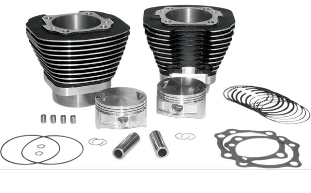 S&S 97 Cubic Inch Big Bore Kit for Twin Cam 1999 - 2006 - Black