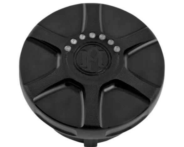 Performance Machine LED Gas Cap Left Side - Array Black Ops