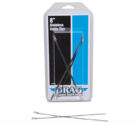Drag Specialties Stainless Steel Cable Ties - 8 Inch