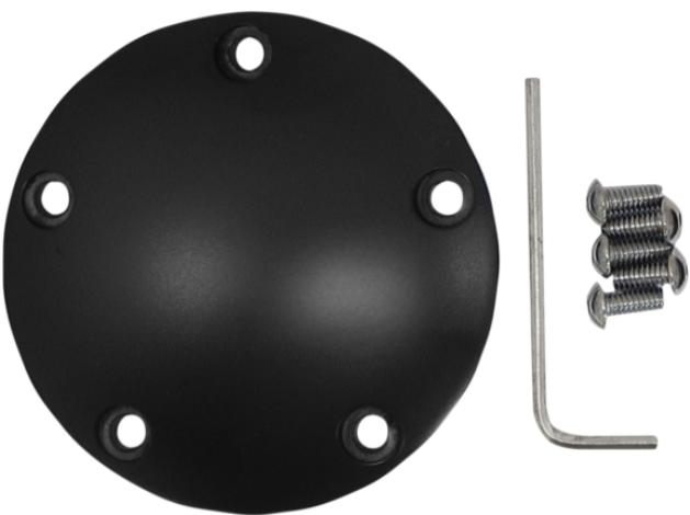 Drag Specialties Domed Points Cover for Twin Cam Models - Wrinkle Black