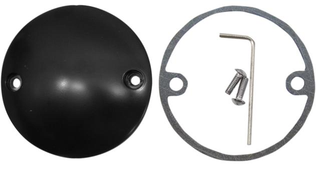 Drag Specialties Domed Points Cover for 1970 - 1999 Big Twin and 1986 - Up Sportsters - Flat Black