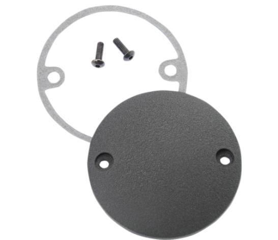 Drag Specialties Domed Points Cover for 1970 - 1999 Big Twin and 1986 - Up Sportsters - Wrinkle Black