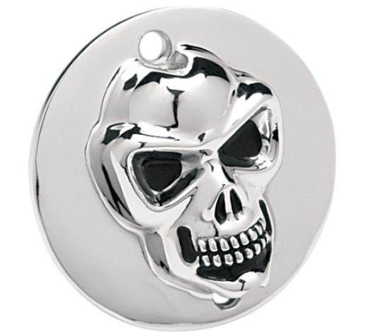 Drag Specialties 3-D Skull Points Cover for 1986 - 2003 Sportster - Chrome