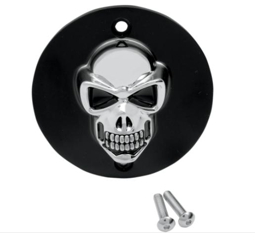 Drag Specialties 3-D Skull Points Cover for 1986 - 2003 Sportster - Black