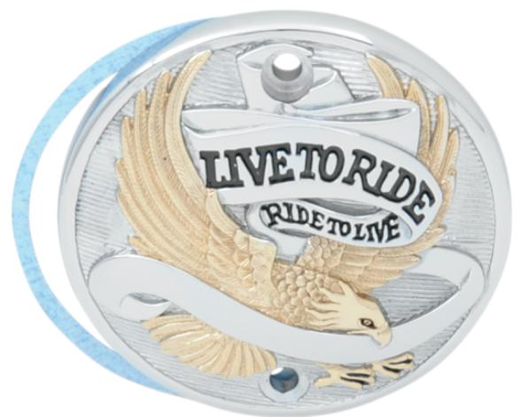 Drag Specialties Live To Ride Points Cover for 1971 - 2003 Sportster Models - Gold