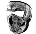 Zan Face Mask - Black and White Skull Face