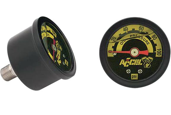 Accel Oil Pressure Gauge - 100 PSI Black