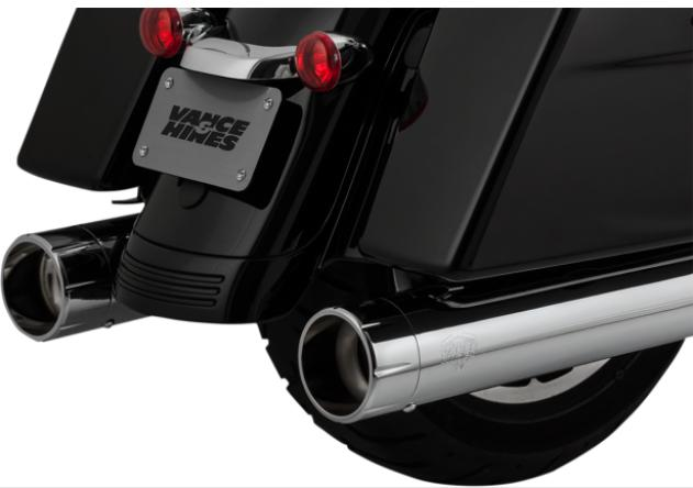 Vance and Hines Oversized 450 Raider Slip On Mufflers for 2017 - Up HD Touring Models - Chrome with Chrome Tips