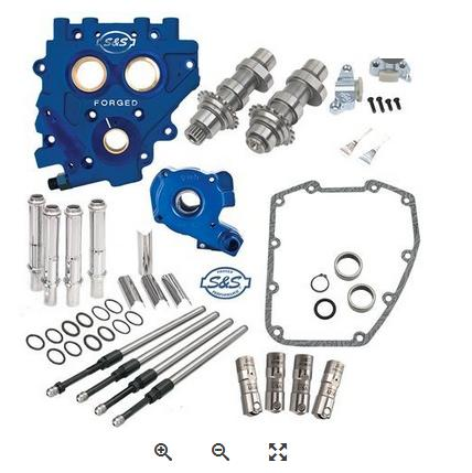 S&S Chain Drive Cam Chest Kit for 2007 - 2017 HD Big Twin and 2006 - 2017 Dyna - 585C Cams