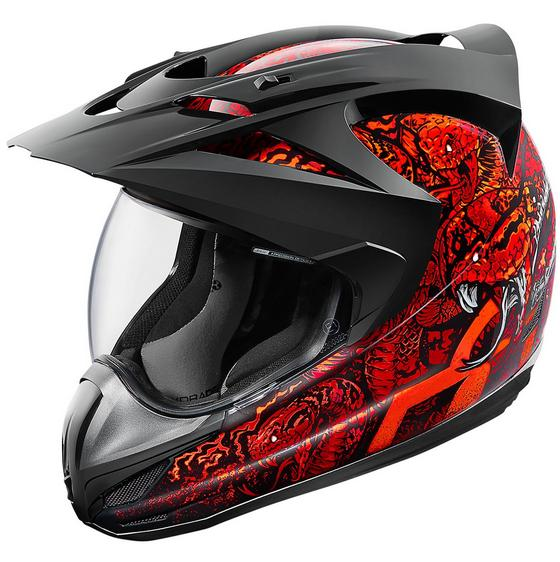 Icon Variant Cottonmouth Helmet Red - Extra Extra Extra Large