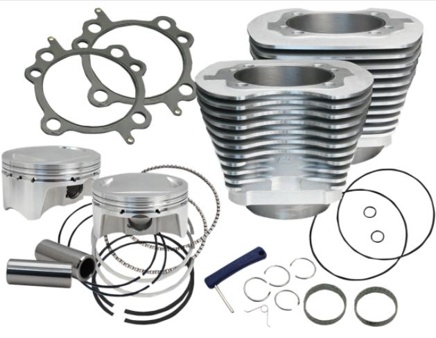 S&S Cylinder Kit 98 Cubic Inch 2001 - 2006 Twin Cam Engines - Silver - 910-0482