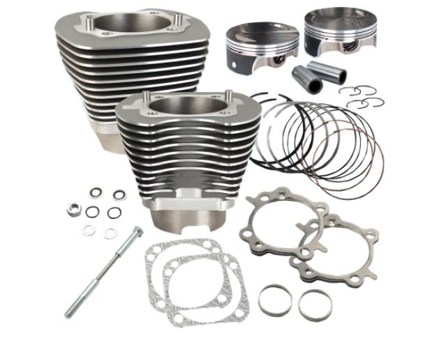 S&S Big Bore Cylinder Kit 117 Cubic Inch for Twin Cam Models 2007 - 2017 - Gray - 910-0474