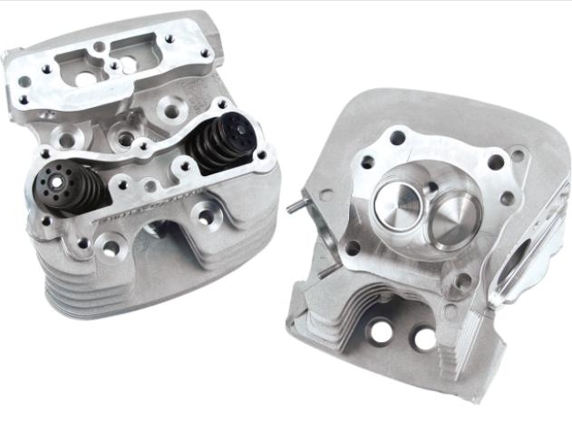 S&S Cylinder Heads 79CC for 1999 - 2005 Twin Cam - Silver - 106-4277