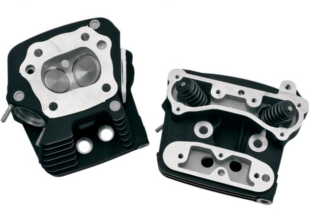 S&S Performance Replacement Heads for Evolution Big Twins using Stock Style Pistons - Black - 106-4570