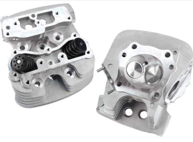 S&S Super Stock Cylinder Heads for 2004 - 2017 Twin Cam - 79 CC Silver