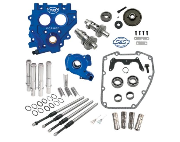 S&S 585 Easy Start Gear Drive Cam Kit with Billet Oil Pump, Billet Cam Plate and Gears for 1999 - 2006 Twin Cam Engines