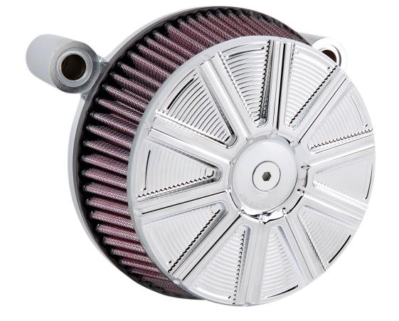 Arlen Ness Big Sucker Stage 1 Air Filter Kit with Chrome 10 Gauge Cover for 2017 - Up HD Touring Models