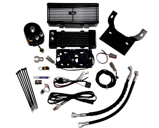 Ultra Cool Fan Assisted Oil Cooler for 1994 - 2006 Electra Glide Classic FLHTC - Flat Black