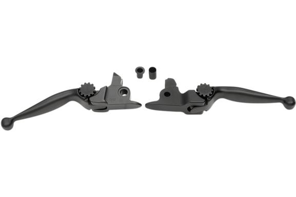 PSR Adjustable Lever Set for 2017 - 2019 FLH Models with Hydraulic Clutch - Journey Black