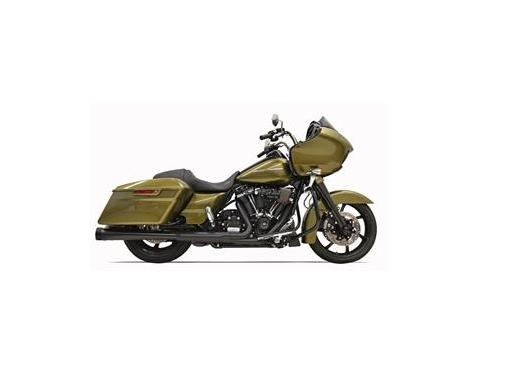 Bassani 4 Inch DNT Megaphone Mufflers with Acoustically Tuned Baffle for 2017 - Up HD Touring Models - Black with Black End Caps