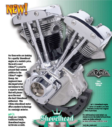 hcw ultima 96 cubic inch shovelhead engine. Black Bedroom Furniture Sets. Home Design Ideas