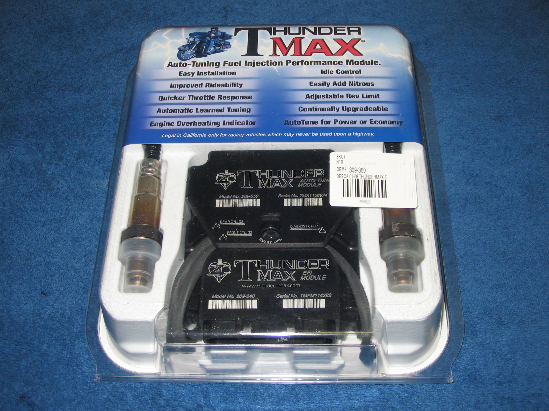 ThunderMax ECM with Auto Tune Closed Loop System for V Rod 2002-UP