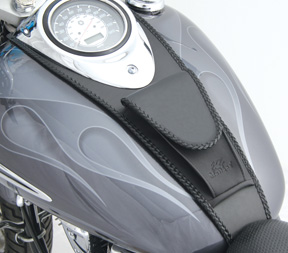 One Size Mustang Studded Pouched Tank Bibs for Harley Davidson 1999-2009 Yamaha V-Star 1