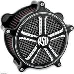 Roland Sands Design Venturi Air Cleaner - Mission Contrast Cut For Evo 1993 - 1999 and Twin Cam 2001 - Present