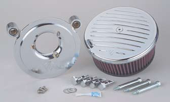 Ness Big Sucker Kit Stage II Grooved Chrome Cover for 2008 - 2013 FLHT, FLHR, FLHX, FLTR models