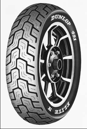 dunlop mv85hb15 491 elite ii raised white letter rear tire