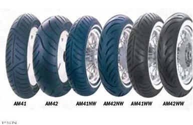 avon venom av71 front tire wide white wall