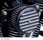 Joker Machine Air Cleaner Assembly for 2001 - later Twin Cam 2001- later - Finned - Black